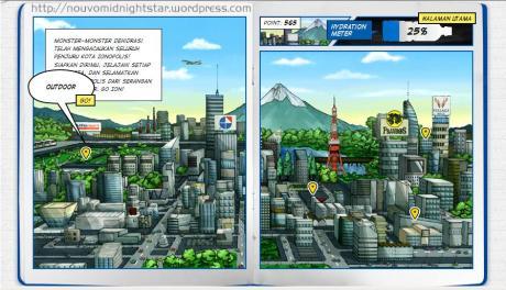 Outdoor mission dalam peta misi di game Ionopolis